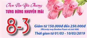 Tưng bừng khuyến mại mừng ngày quốc tế phụ nữ 8/3
